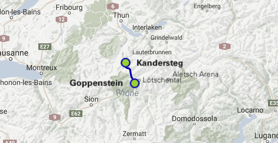 Google Maps Preview Bild Autoverlad Kanderstag Goppenstein
