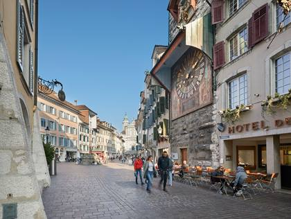 Hauptgasse- und Zytglogge in Solothurn