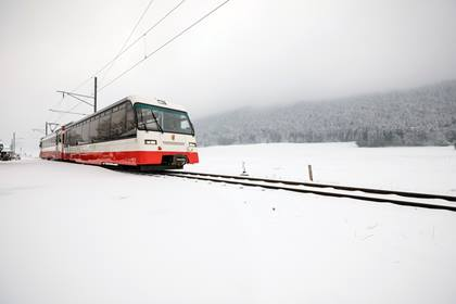 transN Panorama-Salonwagen im Winter