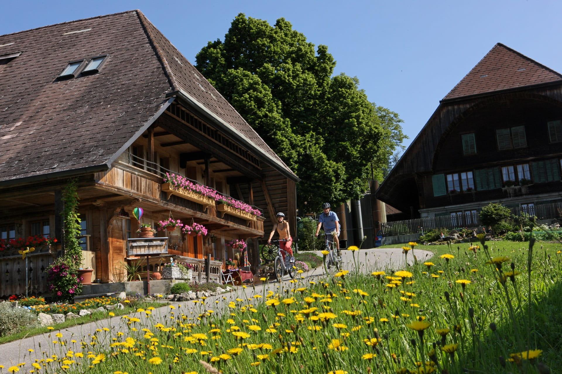Typische Emmentalerhäuser im wunderschönen Lützelflüeh