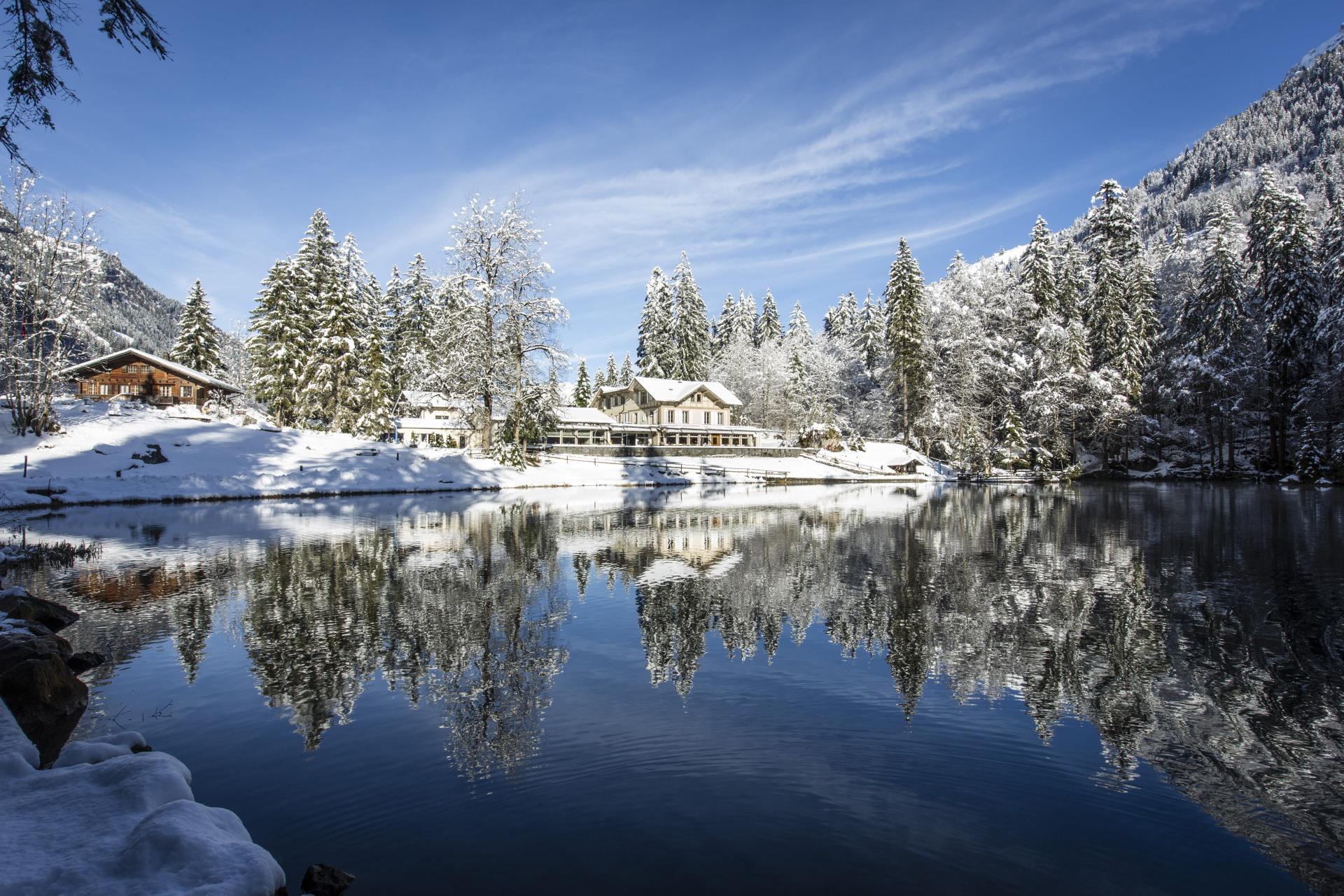Blausee im Winter