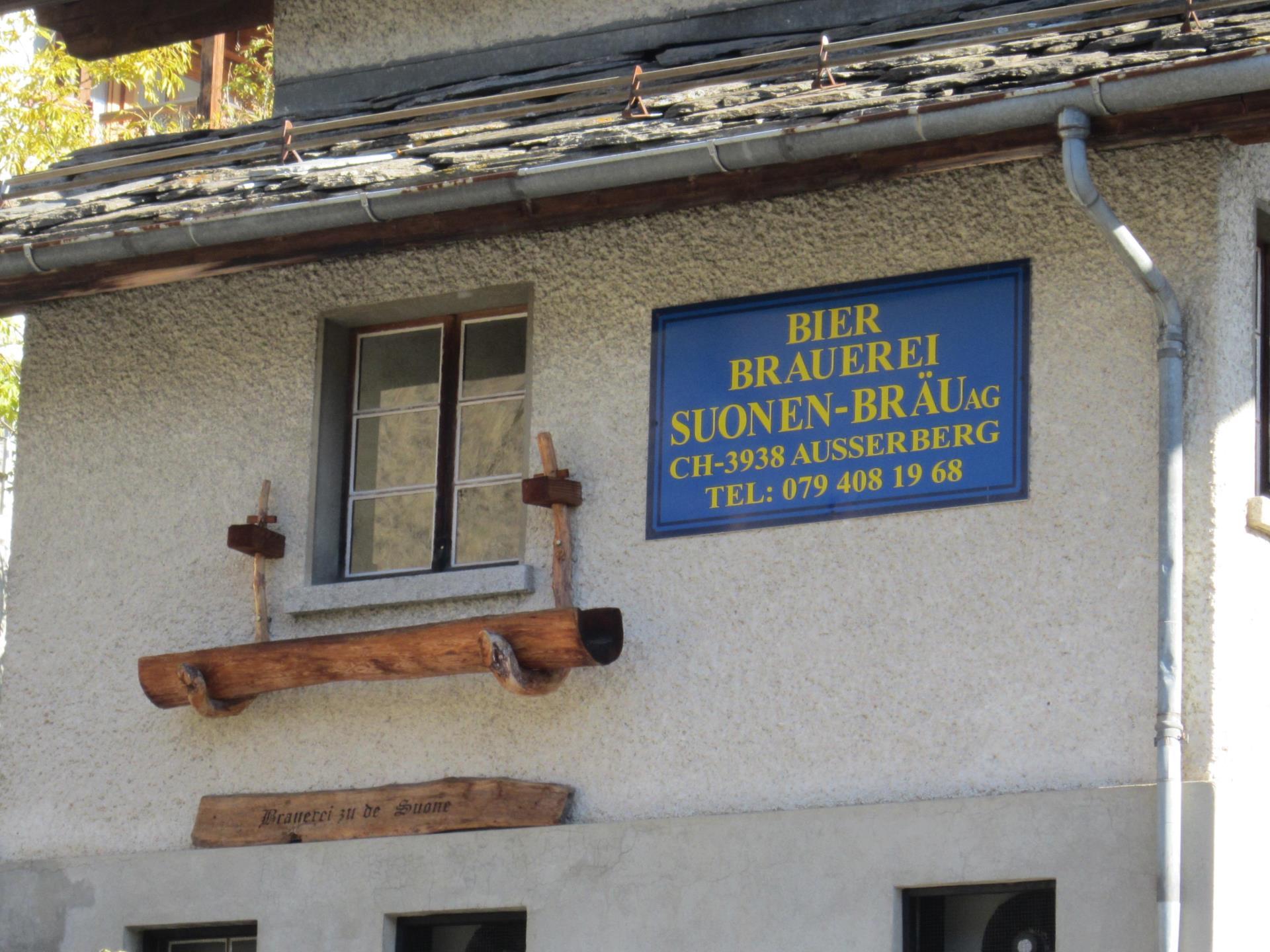 Die Sounen-Brauerei in Ausserberg begrüsst Sie.