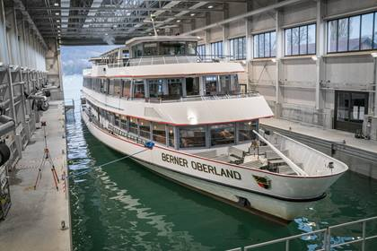 MS Berner Oberland in der Werfthalle am Thunersee