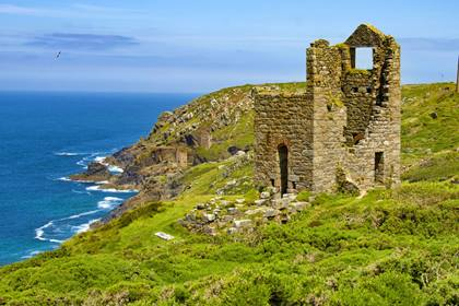 Wandern Cornwall Tin Mine Ruine