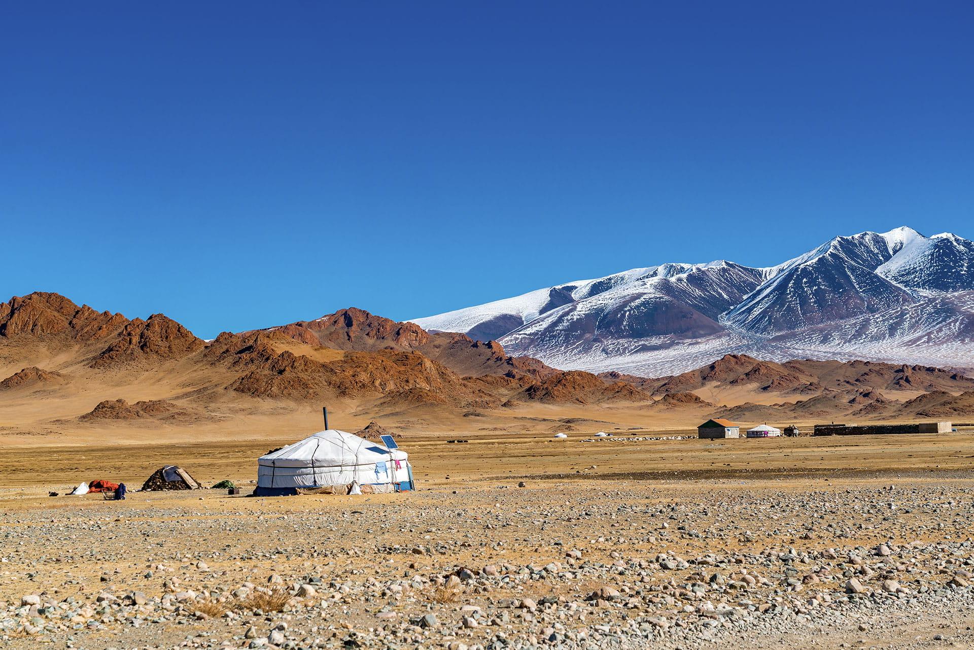 Transsibirische Eisenbahn - Jurte in der Mongolei