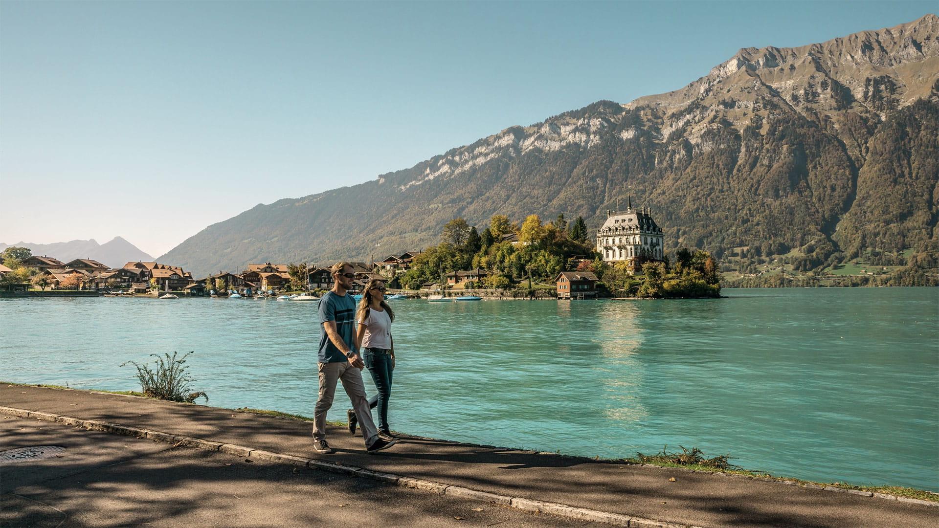 Uferweg Iseltwald-Giessbach, Brienzersee ©Markus Schluep, InterlakenTourismus