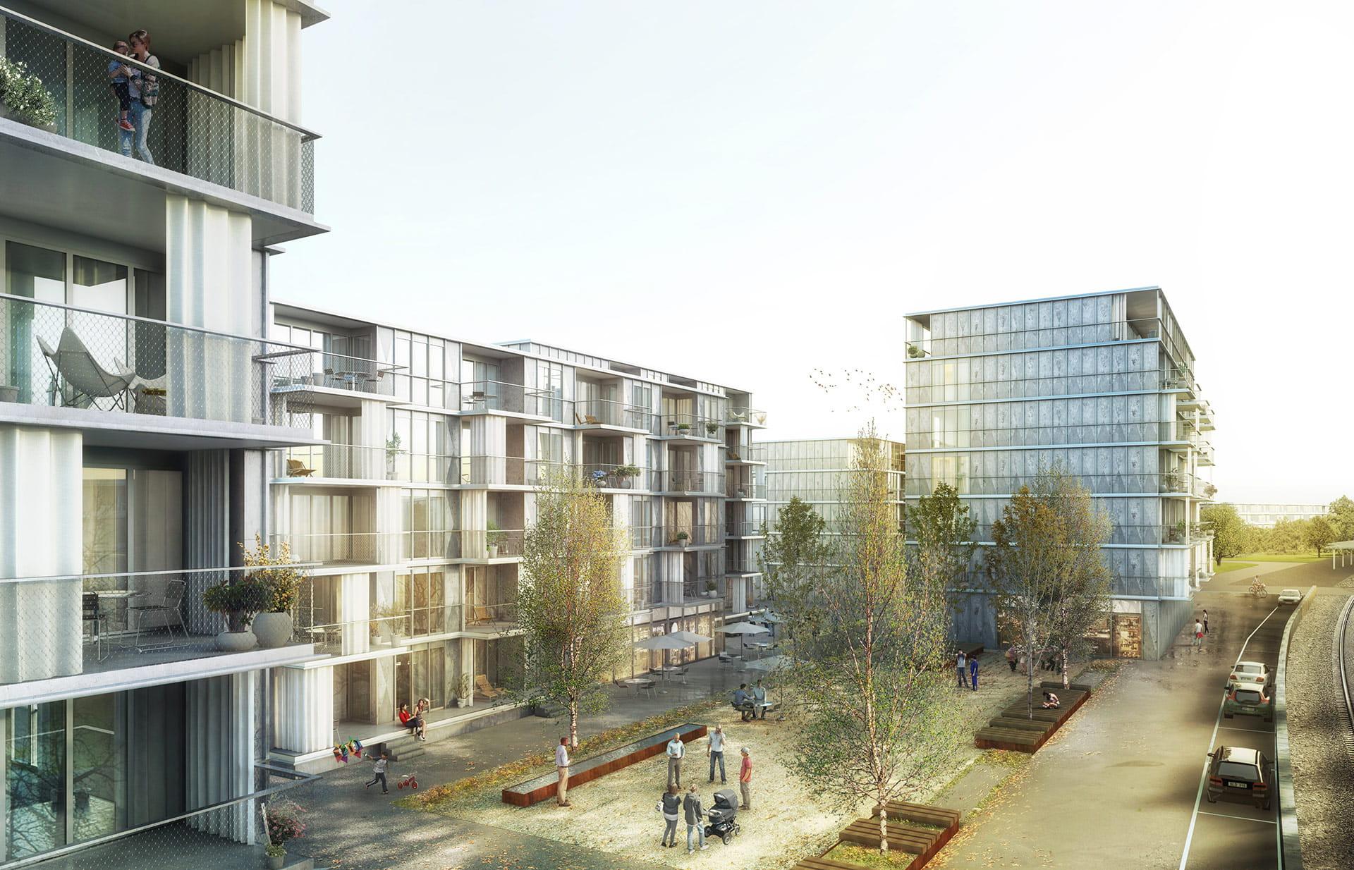 Immobilien Arealentwicklung Burgdorf Steinhof Visual Gesamtanlage