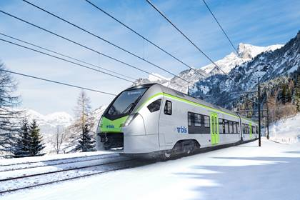 Rollmaterialbeschaffung Flirt RE Kandersteg Winter