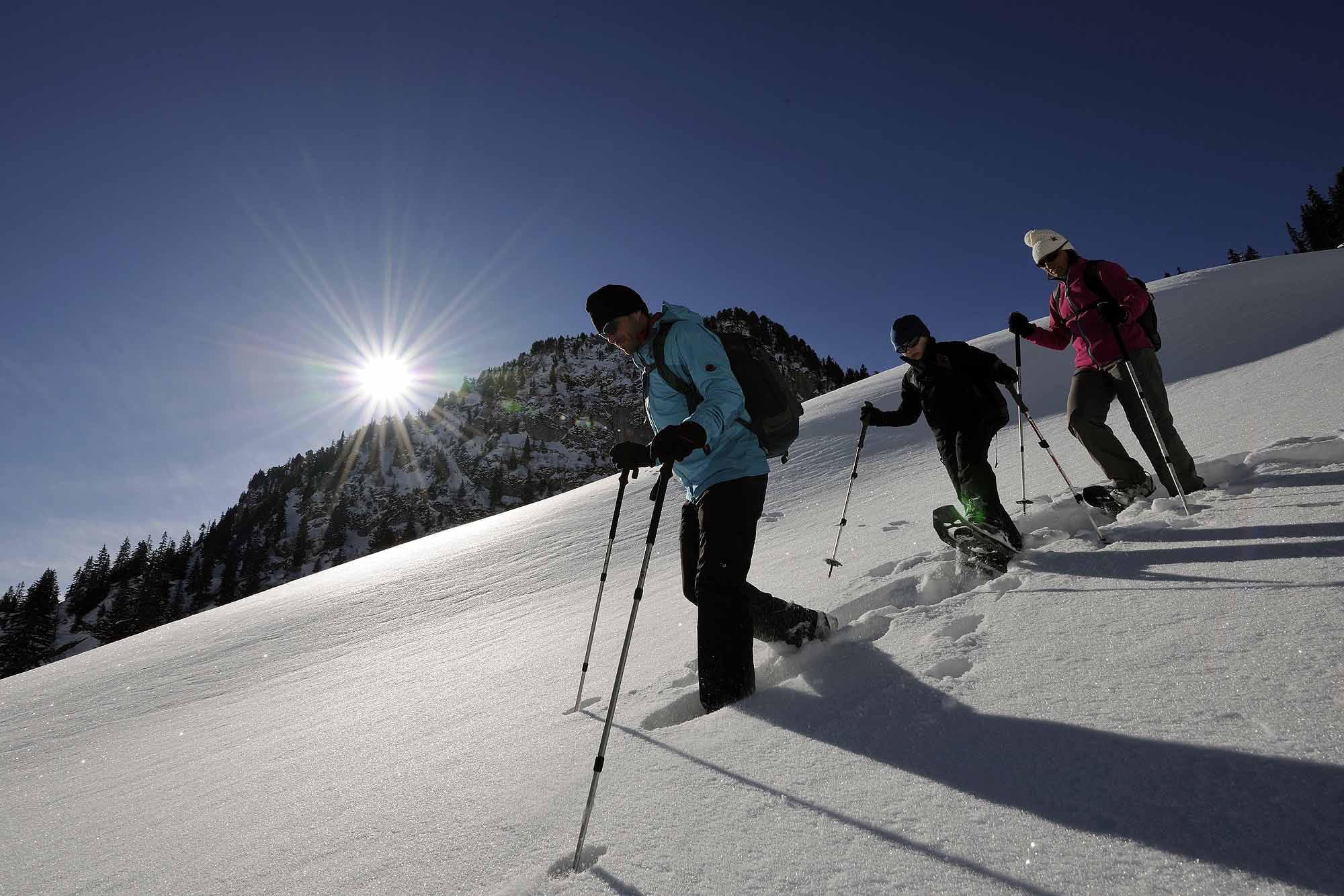 Schneeschuhlaufen am Stockhorn