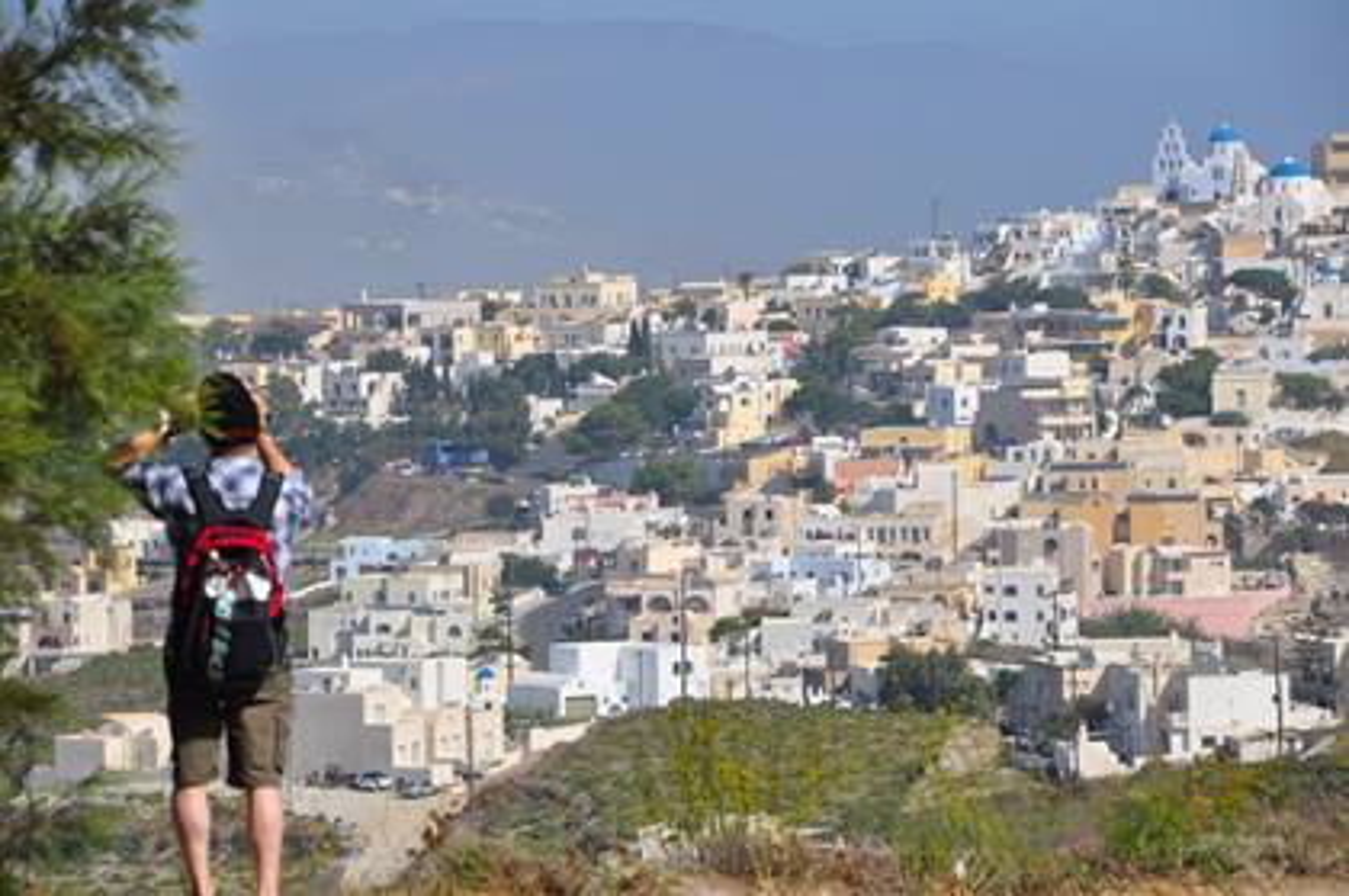 Wandern Santorin